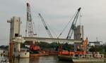 TP.HCM: Gác dầm cống ngăn triều đầu tiên cho dự án chống ngập 10.000 tỷ đồng