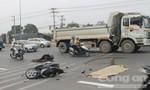 Sau va chạm xe máy, cô gái bị xe tải cán tử vong