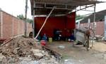 Thợ hồ nghèo bị máy trộn bê tông đè chết thương tâm