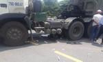 Xe rơ-moóc kéo lê xe máy 40 mét, một phụ nữ tử vong
