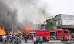 Cháy lớn gần trạm thu phí cầu Đồng Nai, nhiều người hoảng loạn