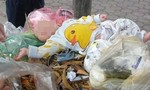 Bé trai 4 tháng tuổi bị bỏ rơi trên xe rác ven đường