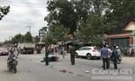 Người đàn ông tử vong vì cùng lúc va chạm vào xe tải và xe ben