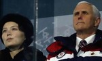Em gái ông Kim Jong Un ngồi kế phó tổng thống Mỹ trong lễ khai mạc Olympic mùa đông
