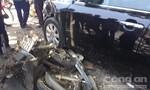 Xe khách cuốn 4 xe máy, 5 người thương vong