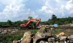 Cảnh sát môi trường bắt quả tang một bãi đá bazan lậu