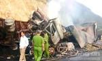 Hai xe đầu kéo tông nhau bốc cháy, 3 người bị thiêu chết