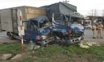 Ba xe tải tông liên hoàn, 4 người bị thương nặng
