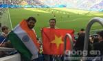Quốc kỳ Việt Nam tung bay trên sân vận động Nga