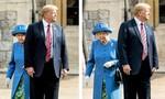 Trump gây tranh cãi khi bước đi trước nữ hoàng Anh