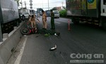 Chạy vào làn ô tô, người đàn ông bị xe container tông tử vong
