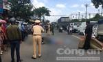 Xe máy va chạm xe tải, một nữ sinh tử vong thương tâm