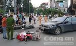 Nữ tài xế lái xe BMW tông hàng loạt xe máy
