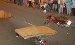 Xe tải tông xe máy chạy cùng chiều, 2 người tử vong