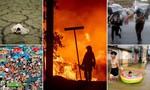 Chùm ảnh thế giới ngập chìm trong nước và lửa