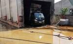 Cháy xưởng dăm bào, 1 người chết, 3 người bỏng nặng