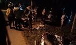 Lại xảy ra ô tô tông liên hoàn nhiều xe máy ở Long An