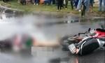 Xe tải chở cát tông xe máy, cô gái tử vong tại chỗ