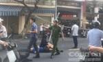 Điện phóng khiến một công nhân té lầu trọng thương