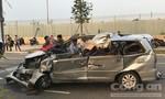 Xe 7 chỗ tông xe tải ở Sài Gòn, tài xế tử vong, 4 phụ nữ và trẻ em trọng thương