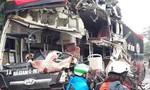 Đầu xe khách nát bét sau cú tông xe ben, nhiều người bị thương