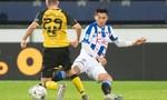 Clip Văn Hậu lần đầu thi đấu cho đội một Heerenveen và nhận thẻ vàng