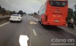 Đi bộ băng ngang đường, người phụ nữ bị xe khách tông tử vong