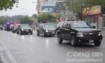 Đoàn xe 'quái thú' phục vụ Tổng thống Donald  Trump đến Hà Nội