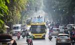 Hà Nội bố trí xe buýt 2 tầng giúp phóng viên tác nghiệp