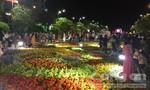 Đường hoa Nguyễn Huệ đông nghẹt người xem pháo hoa mừng năm mới
