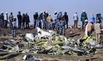 Cận cảnh hiện trường vụ rơi máy bay Ethiopian Airlines