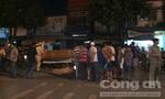 Xe máy tông xe tải, một người tử vong trên đường đang thi công