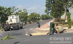 Thanh niên tử vong sau cú tông xe đầu kéo trong KCN