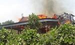 Cháy nhà gỗ 5 gian, chủ nhà bị lửa thiêu tử vong