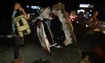 Xe container tông xe đi chở hài cốt, nhiều người bị thương