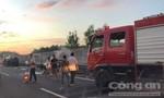 Xe bán tải bốc cháy trên cao tốc HLD