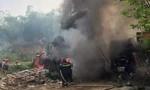 Đốt rác dẫn đến cháy xưởng sửa chữa ô tô, thiệt hại nhiều tỷ đồng