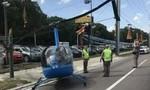 Clip trực thăng hạ cánh trên cao tốc, 2 người thương vong