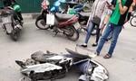 Nữ tài xế lái xe Mercedes tông hàng loạt xe máy, nhiều người bị thương