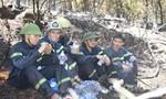 Học sinh, người vừa mổ xong cùng đồng lòng dập lửa cứu rừng