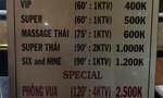 """Xóa ổ massage Bangkok """"phục vụ theo yêu cầu"""" ở Sài Gòn"""