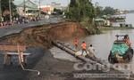 Tuyến đường huyết mạch nối Cần Thơ - Long Xuyên - Châu Đốc chìm xuống sông