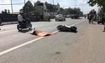Thanh niên đi xe máy bị xe container cán tử vong thương tâm