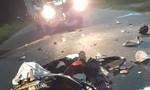 Xe máy nát bét sau cú tông trực diện xe tải, thanh niên tử vong