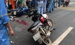 Hai xe máy tông nhau trong KCN, 3 người trọng thương