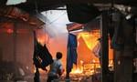 Cháy chợ Mộc Bài, hơn 200 gian hàng bị lửa thiêu rụi