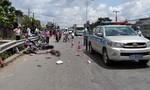Xe khách va chạm liên hoàn 2 xe máy, 2 phụ nữ thương vong