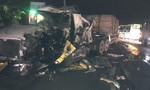 Xe container và xe khách tông nhau, hai tài xế bị thương nặng
