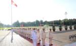 Đoàn đại biểu dự Đại hội Đảng bộ Công an Trung ương vào Lăng viếng Chủ tịch Hồ Chí Minh