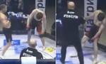 Clip hy hữu tay đấm hạ knock-out đối thủ trong 'tư thế đứng'